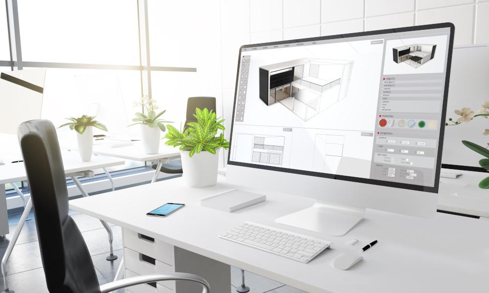 komputer w biurze